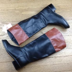 Orvis Black Brown Leather Riding high Boots Size 6